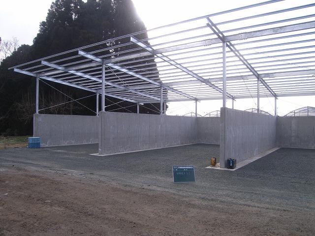 施工実績 堆肥舎新築 小1